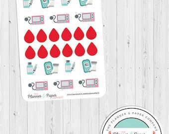Diabetes Icon Planner Stickers