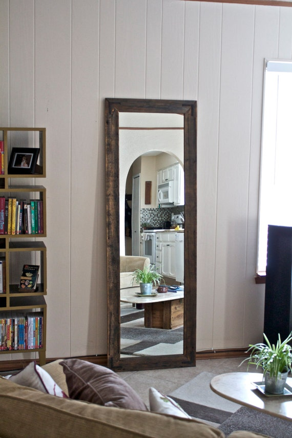 Large full length mirror large wood mirror rustic wardrobe mirror large wall mirror reclaimed wood mirror vanity mirror floor mirror