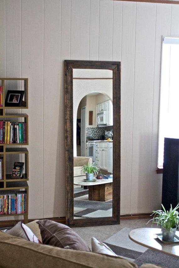 Large Full Length Mirror Large Wood Mirror Rustic Wardrobe