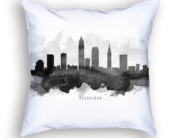 Cleveland Pillow, 18x18, Cleveland Skyline, Cleveland Cushion, Cleveland Pillow, Throw Pillow, Home Decor, Gift Idea, USOHCL11PI