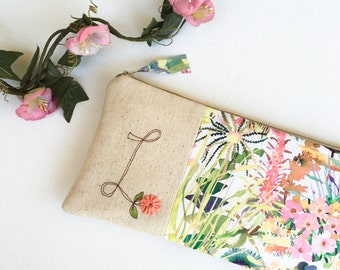 Mother of the Bride Gift from Daughter, Floral Monogram Clutch, Personalized Gift for Mom, Mother of the Groom Gift, Custom Wedding Clutch,