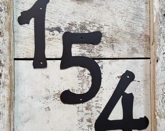 NEW - House Numbers - Powder Coated Black or Brown Numbers - Steel