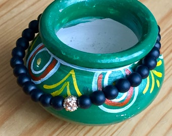 Moroccan Tribal Black Bracelet