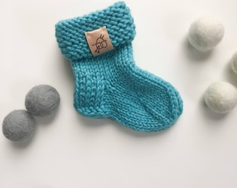 Baby knitted socks First newborn accessories Baby boy socks Soft merino wool babyknit  Knitted baby socks Tiny baby socks