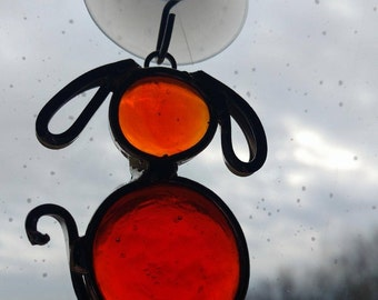 Stained Glass Nugget Puppy Dog