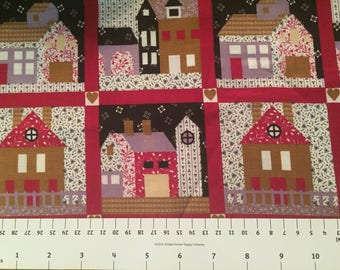 Calico House Cotton Quilting Fabric by the half yard