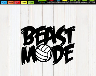 Volleyball SVG, Beast Mode SVG, Volleyball Shirt SVG, Volleyball Mom svg, Volleyball Design, Volleyball Decal, Volleyball Clip Art, dxf, png