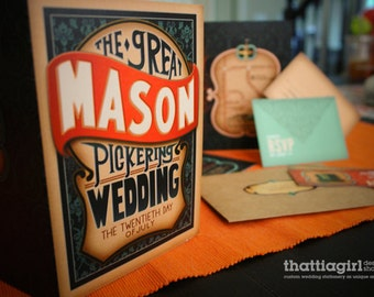 Thattiagirl Design Shop - Custom Wedding Invitation Suite