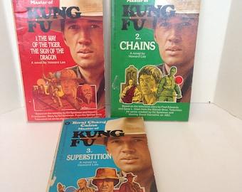 Three Vintage Kung Fu Novels - Paperbacks