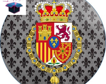 1 cabochon clear 25 mm medieval theme