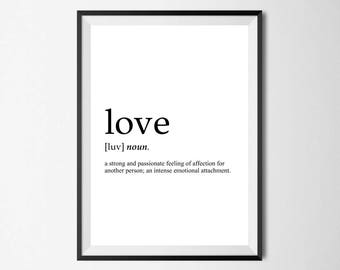 Love Definition Wall Print - Home Decor, Wall Art, Love Print, Romantic Print, Valentines Print, Definition Print