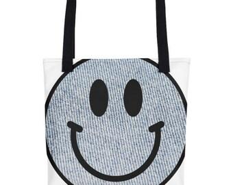 Denim Smiley Tote bag Made in USA