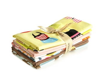Novelty Yellow Fat Quarter Fabric Bundle by Riley Blake