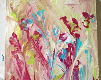 Painting acrylic floral theme