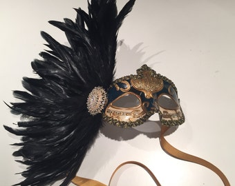 Masquerade- Mardi gras Mask- feather Mask - Venician mask- Masquarade - Costume party mask- Party Mask -Masquerade Ball- Mardi Gras- Masked