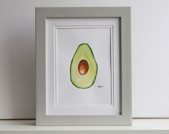 Avocado - Original Watercolour Painting (Un-framed)