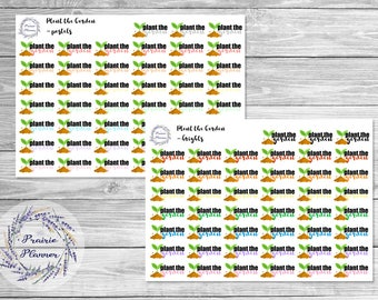 Plant the Garden - Planner Stickers
