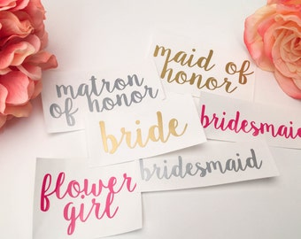 """3"""" Bridal Party Stickers"""