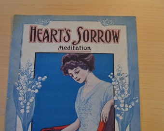 Sheet Music 1910 Heart's Sorrow (Meditation) by Louis A Drumheller