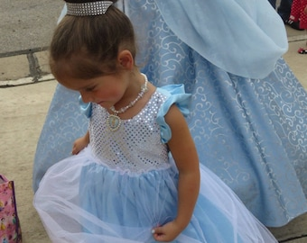 Ready to Ship Sale!  Size 12-18M Cinderella inspired Sequin & Tulle Maxi Dress