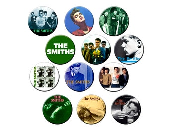 12 Smiths Badges - Pack of 12 Small 1.25 inch Pin Back Buttons - The Smiths with Morrissey - One Dozen Small Pins