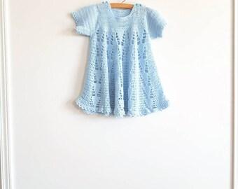 Vintage Blue Knit Dress