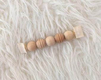 Wooden Baby Toy - Montessori  Baby Toy - Wooden Baby Toy - Grasping Toy -Teething Toy - Grasping Beads - Natural Baby Toy - Baby Gift