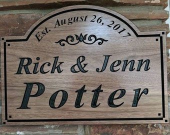 Custom Wood Sign | Last Name Sign | Established Date Sign | Family Name Sign | Wedding Gift | Anniversary Gift | Personalized Sign | Carved