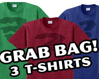 3 T-Shirt Grab Bag - Mystery Graphic Tees
