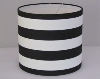 Charming Handmade Monochrome Black White Wide Stripe Lampshade Lightshade 20cm 25cm  30cm