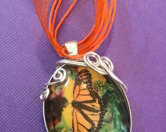 Butterflies are free pendant necklace