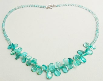Apatite and 925 sterling Silver necklace