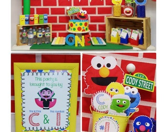 Sesame Street Party Printable | Elmo Birthday | Sesame Street Birthday Decorations | Elmo Party | 1st & Any Age | Epic Parties by REVO
