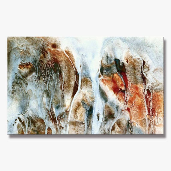 CLIFF SERIES   #3015, Large Stunning Abstract Painting, Artist-Signed, Giclee Fine Art Print, Contemporary, Acrylic, 10x16 - 36x60