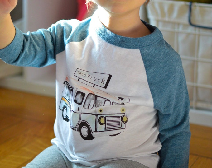 Featured listing image: Taco Truck /// Baseball Style /// Toddler Tee