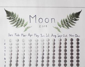 Moon Phase Calendar 2018 - Fern