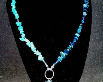Turquoise And Magnesite Chip Necklace