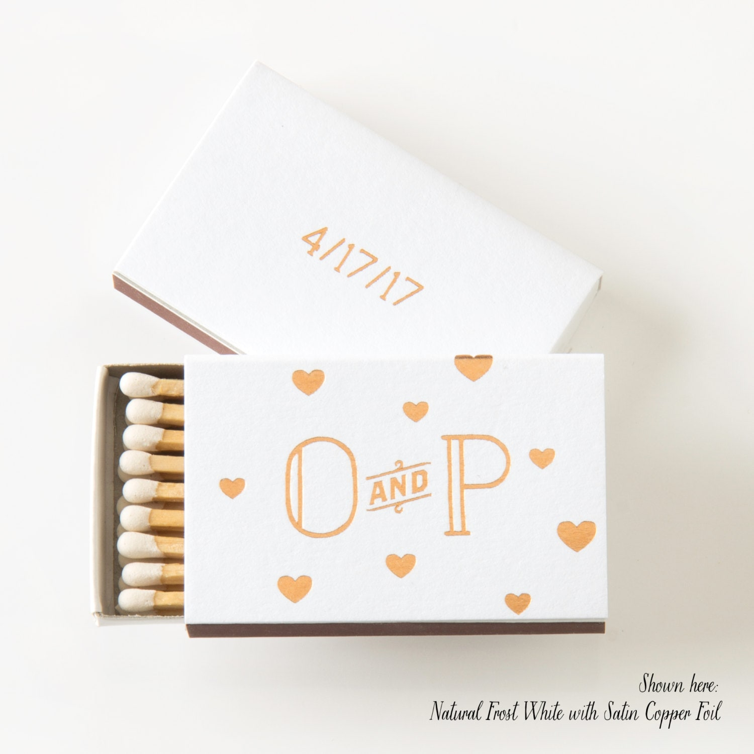 FLOATING HEARTS Matchboxes Wedding Favor Wedding Matches