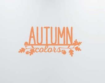 Autumn Decal, Fall Decor, Autumn Vinyl Decal, Fall Decal, Halloween Decor, Autumn Decor, Fall Decorations, Four Seasons Vinyl Decals, Leaves