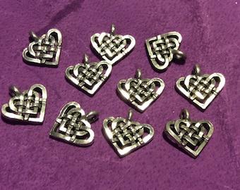 Celtic Heart Pewter Charm