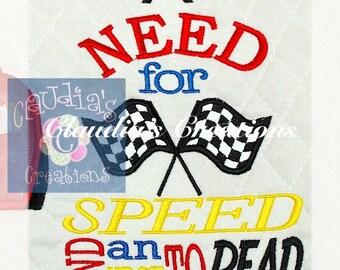 Racing Subway Art, Pocket Pillow Embroidery Saying, Reading Pillow Embroidery Saying, Racing Cars