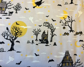 Happy Haunting in Gray fabric by Riley Blake