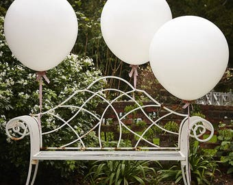 Large White Balloons x 3, 3ft Balloons, Party Balloons, Giant Balloons, Party Decorations, Wedding Balloons, Baby Shower Balloons, Birthday