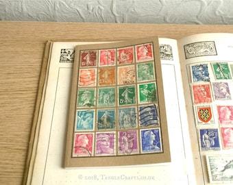 France Stamp Album Notebook • Genuine Vintage Stamp Collection Cover!