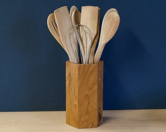 Oak Utensil Pot - Utensil Holder - Utensil Jar - Sold Singly Or In Sets