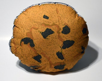 """Chocolate Chip Cookie Pillow - 11"""" Cushion Soft Toy - Made to Order"""