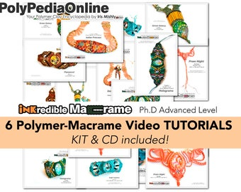 Macrame Pattern, Macrame Jewelry, Macrame Tutorial, Macrame Gifts, Jewelry Tutorial, Polymer Clay Beads, Necklace Pattern, Bracelet, Earring