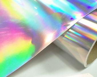Silver Rainbow Holographic 12 inch x 10 feet, Craft & hobby Cutting Vinyl Film,