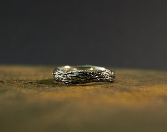 Sterling Silver Tree ring, Twig ring, Tree Branch ring, tree rings, sprig ring, textured jewelry, Tree of life ring, wood jewelry, wood ring