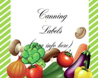 Vegetable Canning or Address Labels 2
